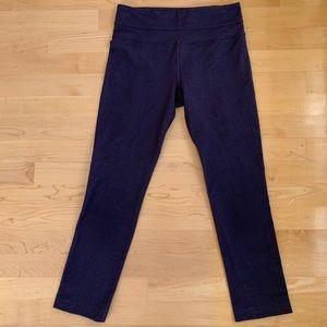 Lululemon Blue Denim Shimmer Leggings (size 2)